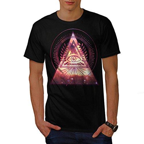 Illuminati Galaxis Mystiker Star Herren S T-shirt | - Die Bürger Von Halloween