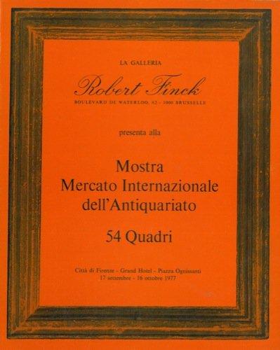 La galleria robert finck presenta alla mostra mercato internazionale dell'antiquariato 54 quadri.