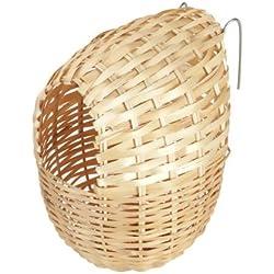 Nido de bambú para pájaros exóticos, 12 x 11 cm