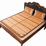 CAIJUN Sommer-Schlafmatten Verwenden Sie auf Beiden Seiten Kein Grat Keine Verschmutzung Verkohlung Glatt und Bequem Ökologie Pflanzen-Pad (Farbe : No Pillowcase, größe : 1.8x2.0m)