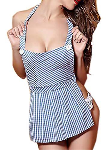 Rapidly Lingerie Damen Cosplay Kostüms Partykleid Dienstmädchen Uniform Reizwäsche Sleepwear Nachtwäsche Nachthemd (Männliche Dienstmädchen Kostüm)