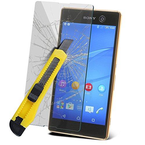 Étui pour Sony Xperia M5 / Sony Xperia M5 E5603, E5606, E5653 Titulaire de téléphone Case voiture universel Mont Cradle Dashboard & pare-brise pour iPhone yi -Tronixs TempeRed + Glass (3 Pack)