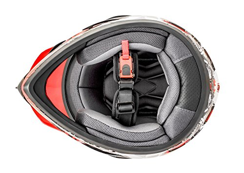 ATO GS War Rot Crosshelm mit Visier für Quad ATV Enduro Motorradhelm ECE 2205 Größe: L 59-60cm - 3