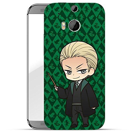 finoo | HTC one M8 Hard Case Handy-Hülle Harry Potter Motiv | dünne stoßfeste Schutz-Cover Tasche mit lizensiertem Muster | Premium Case für Dein Smartphone| Malfoy grün (Grüner Mann Body)