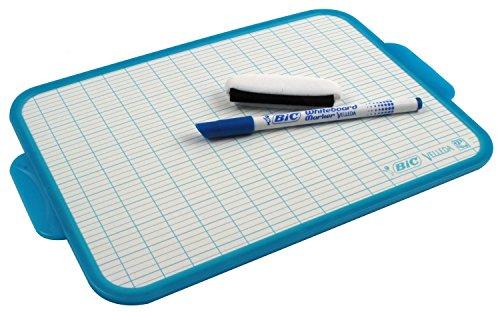 BIC Velleda Pizarra Blanca con Rotulador Azul (19 x 26 cm) – Bolsa de 1+1