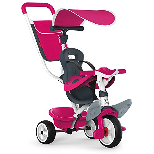 Smoby - 741101 - Tricycle Baby Balade 2 - Tricycle Evolutif avec Roues Silencieuses - Dispositif Roue Libre - Ros