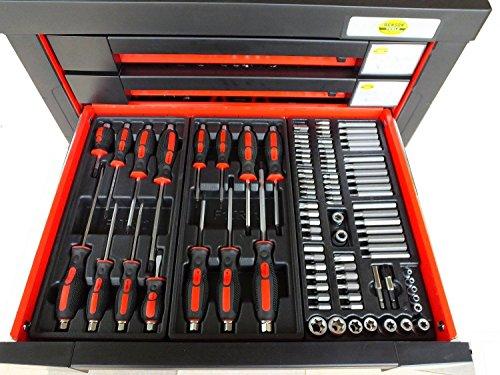 Bensontools Werkstattwagen 542 teilig Werkzeugwagen gefüllt Werkzeug 7 Kugelgelagerte Laden, 1 Stück, XL, 6333 - 3