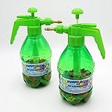 Wasserbomben Pumpe mit 300 Wasserballons Füller Füllhilfe Pump-Sprühflasche Pumpflasche 2er