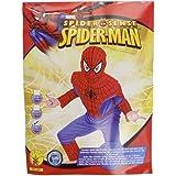 Spiderman Kostüm Lizenz Kinder Kinderkostüm Spider Man Sense Jungen Dress-up Set Maske Amazing Superheld Superhero Marvel Avangers Comic Action Held Spinnenmann Spinne Premium Gr. L, M, S