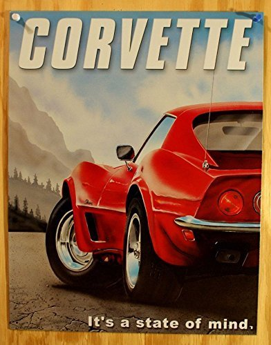 chevrolet-chevy-corvette-state-of-mind-retro-vintage-tin-sign-by-poster-revolution