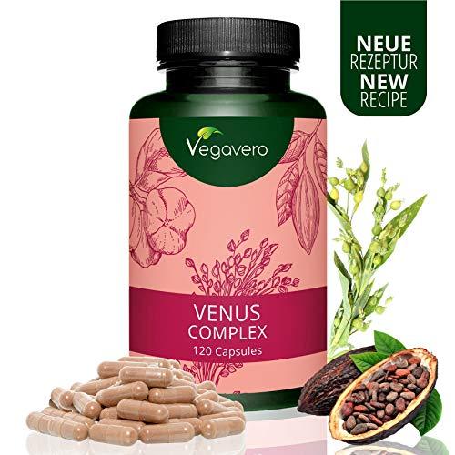 Venus Complex Vegavero | Haut Haare Nägel Kapseln |120 Kapseln | Vitamine, Mineralstoffe + L-Methionin | BIOTIN, NIACIN & SILIZIUM | Vegan und OHNE Zusatzstoffe