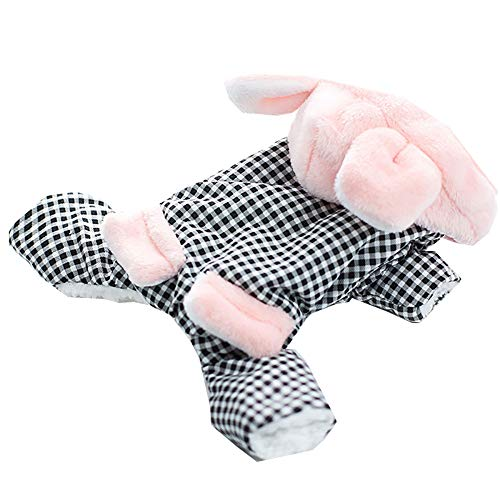 JIAQING Kostüm Princess Series Teddy Shisch Dog Plaid Rabbit Pet - Pink Princess Hunde Kostüm