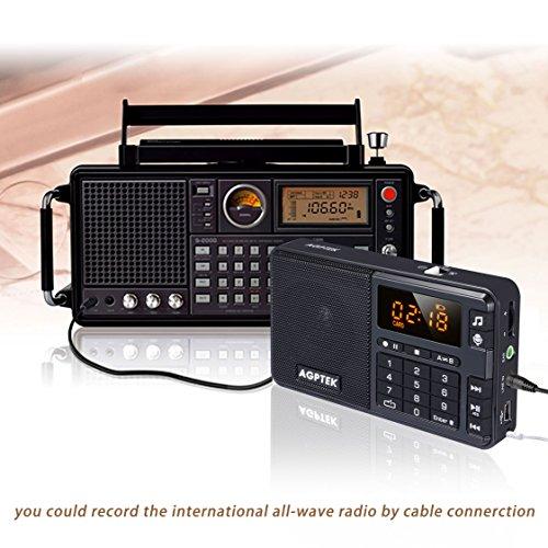 24 99 agptek r08 mini lecteur mp3 avec radio fm et un enregistreur vocal radio radio portable noir. Black Bedroom Furniture Sets. Home Design Ideas