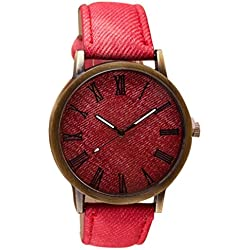 Tonsee Retro Vogue WristWatch Cowboy Leather Band Analog Quartz Watch