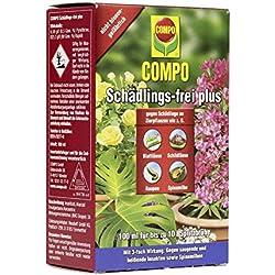 Compo Insecticida concentrado antiparásitos, como pulgones, ácaros e insectos escama, muy efectivo, 100 ml