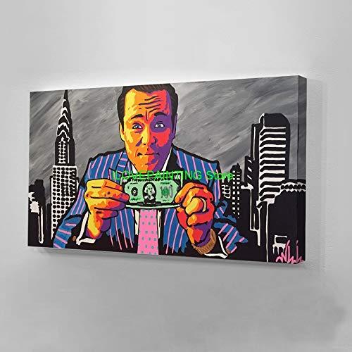 zgmtj Moderne Graffiti US Dollar Geld Große gedruckt Ölgemälde Auf Leinwand Die Voves Gedruckt Leinwand Malerei Poster Kein Rahmen 45x90 cm