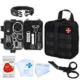 GRULLIN Survival Kit 44 in 1 Emergency First Survival Gear Kit Custodia per Attrezzi IFAK, Home Office Car Escursionismo Caccia Campeggio Avventura per Uomo papà Fidanzato