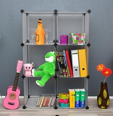 Büro Flur Regal Schrank Steckregal Wandregal Bücherregal in Weiß Transparent von Ts-ideen bei Spiegel Online Shop