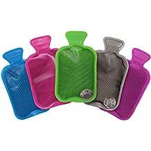 5 Mini Botellas de Agua Caliente, Calentadores de Manos - Reutilizable y Portátil - Clic