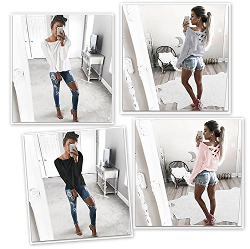 Damen Langarmshirt T-SHIRT Kleid Lose Bluse (653) Mint