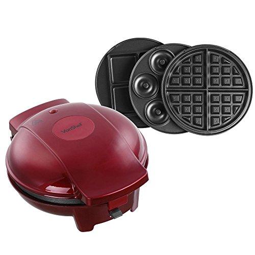 vonshef 3 in 1 waffle brownie mini doughnut snack maker. Black Bedroom Furniture Sets. Home Design Ideas
