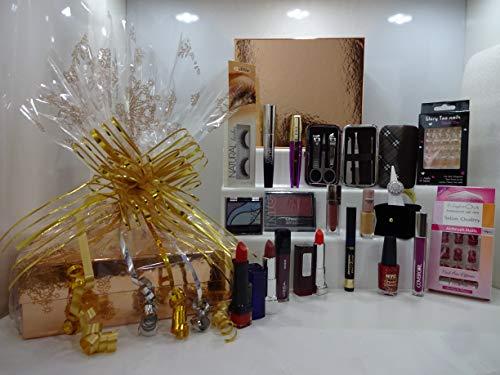 No7 10pc Beauté Sac cadeau Ensemble cadeau ~ N ° 7 chauffé Recourbe cils + No7 aérographe Away Primer + Gratuit de produits de maquillage en trousse à maquillage prêt au Cadeau