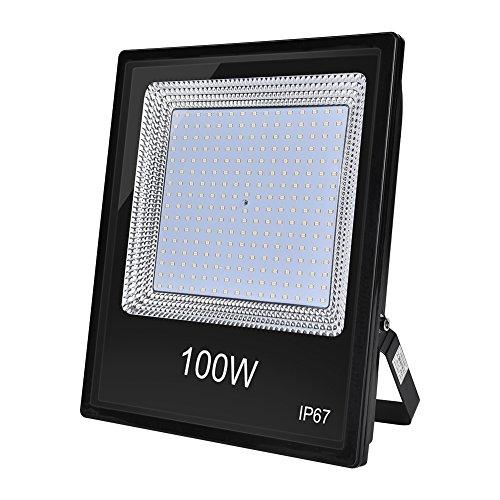 Foco LED IP67, Foco Exteriores/Interiores Foco proyector LED 20W 50W 100W Halógeno Blanco frío/Blanco cálido Floodlight Led (100W, Blanco cálido)