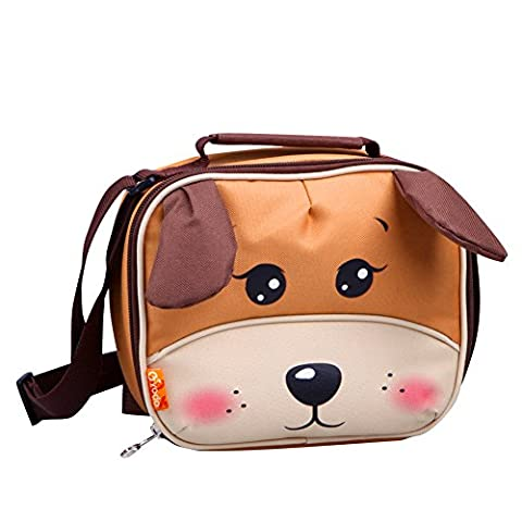 Yodo Mini lunch box ludique, enfants, maternelle, snack, bandoulière, sac à poids léger, avec doublure isotherme, motif zoo