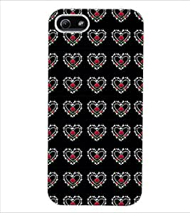 ColourCraft Heart Pattern Design Back Case Cover for APPLE IPHONE 5