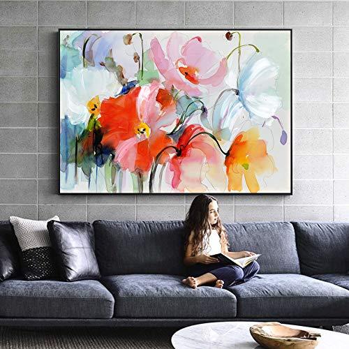 RTCKF Arte Moderna Monet impressionista Wall Art Riproduzione su Tela Soggiorno Pittura Decorativa (Senza Cornice) A4 60x90CM