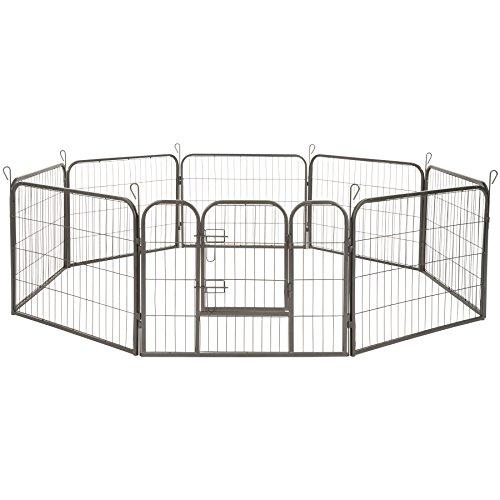 TecTake Welpenlaufstall Tierlaufstall Freigehege Hunde Laufstall - Diverse Modelle - (Höhe 60 cm   no. 402502)