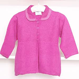 Girls Luxury 100% Pure Cashmere Jacket Coat In Raspberry Pink (4 years)