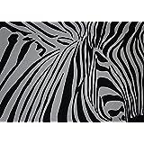 handgemaltes Bild - Acryl auf Keilrahmen - 70 x 100cm - Motiv: Zebra