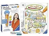 Ravensburger tiptoi ® Buch 4-6 | Mein großes Wimmelbuch + Ravensburger 007004 tiptoi® Der Stift Player