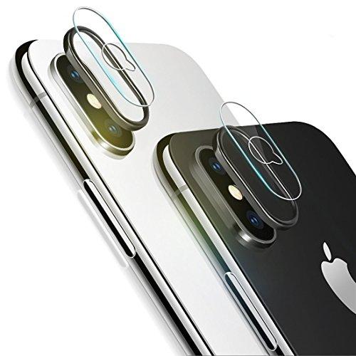 iPhone X Kamera Panzerglas, Rheshine 0.1mm iPhone X Kamera Transparentes Schutzglas,Ultra-klar Hohe Transparenz 9H Härte, Anti-Kratzen,Anti-Öl, Anti-Bläschen Panzerglas Displayschutzfolie ( 2*iPhone X Kamera Schutzfolie + 2*iPhone X Kamera Objektiv Schutz