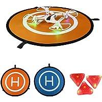 """Cellstar Landing Pad Drone Quadcopter Helipuerto Drone DJI Landing Mat, Landing Pad Drone 55cm 22in Helipuerto Helicóptero Parking Drone con cámara Accesorios Portable + Plegable + Waterproof + Water Resistant + 2 Lacks con 3 Landes ABS (30 """" / 75cm)"""