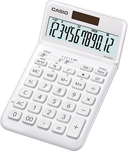 Casio JW 200 SC WE Calculatrice de bureau Blanc