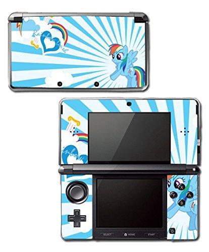 Rainbow Dash MLP My Little Pony Heart Video Game Vinyl Decal Skin Sticker Cover for Original Nintendo 3DS System by Vinyl Skin Designs (Design Rainbow Dash Pony A)