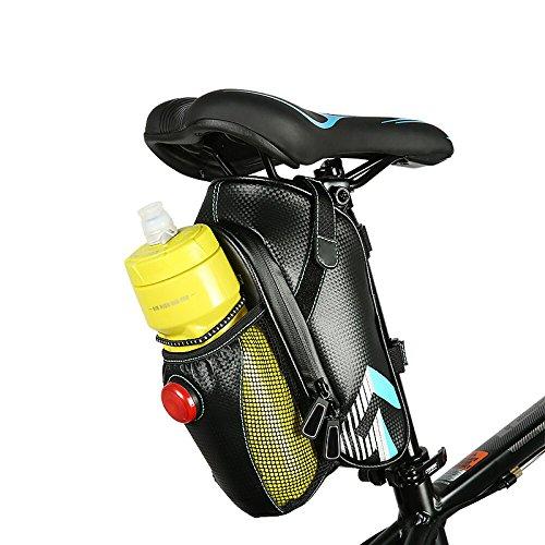 Sitz Tasche, wasserfeste Fahrradhalterung Bike Fahrrad Sattel Tasche Sitz Tasche Mountain Road MTB Fahrrad unter dem Sitz Tasche Reparatur Werkzeug Tasche mit Fahrrad Rücklicht mit Radfahren Supplies  Hellblau