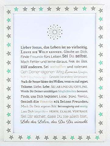 Personalisierbares Geschenk zur Firmung, Erstkommunion, Jugendweihe, Kommunion u. Konfirmation | Bilder für Jungen | als Gastgeschenk, kreative Verpackung für Geldgeschenk oder anstatt Glückwunschkarte