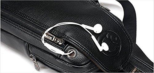 Il braccialetto della cassa brace high-grade business della cavità di corsa del soft-surface per trasmettere il sacchetto del sacchetto del petto degli uomini di grande capacità di disegno 27 * 17 * , red brown