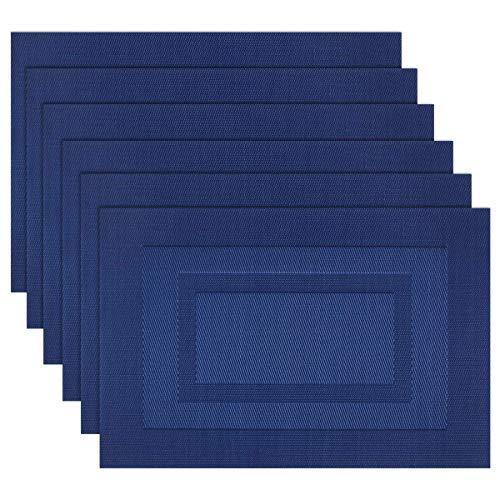 SHACOS 30x45 cm Manteles Individuales Lavables Azul