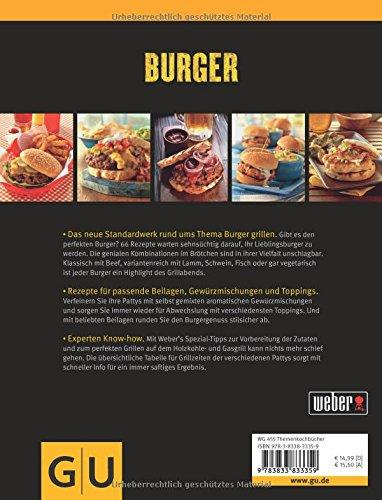 517tx3BukiL - Weber's Burger: Die besten Grillrezepte mit und ohne Fleisch (GU Weber's Grillen)