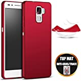 Coque Huawei Honor 7 Etui Silicone Gel Housse Antichoc Protection (5.2 Pouces) - Rouge