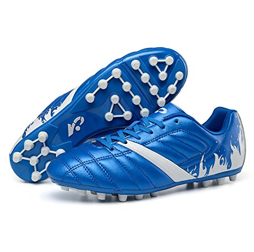 High Fußball Junior (Xing Lin Fußballschuhe Die Verzierte Fußball Schuhe Junior High School Kick Rennen Sneaker Blau 12 Jahre 13 Jahre 37 Codes 38 Yards, 39 Yards, 39, Blau)