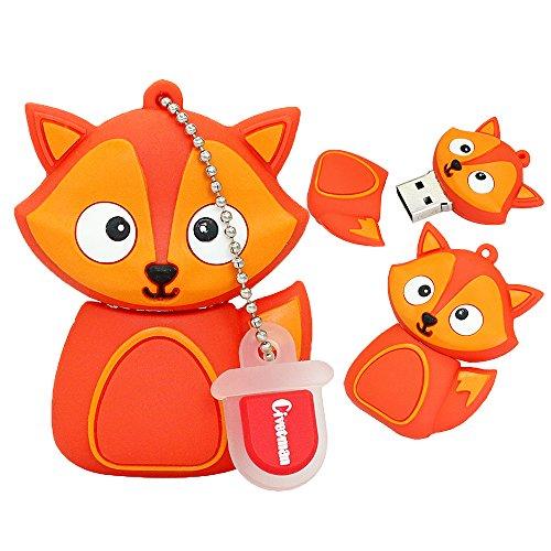 32GB USB-Stick Nette Tiere Fox Pen Drive Memory Stick Thumb-Laufwerk Jump Drive Pendrive Flashdrive Geschenke für Schulkinder und Studenten
