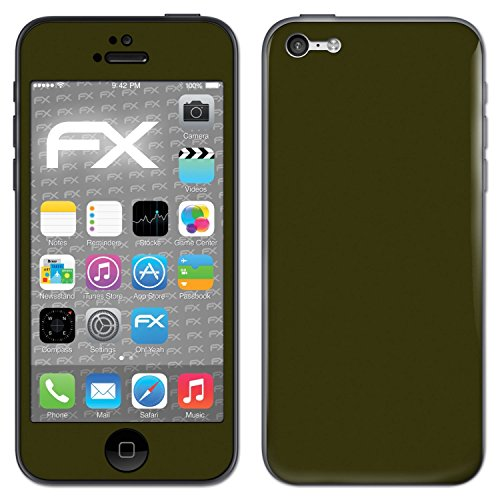 "Skin Apple iPhone 5C ""FX-Carbon-Black"" Designfolie Sticker FX-Soft-Olive"