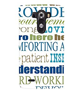 Printvisa Multiple Quotes And Lessons Back Case Cover for LG G3::LG G3 D855
