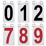 Gogo 6Sets Score Reporter, Anzahl Flipchart für Anzeigetafel, 0–9Ersatz Karten Einheitsgröße rot / schwarz