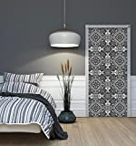 DekoShop Fototapete Tür Vlies - Tapete Imitation, Struktur und Textur Wandtapete Mosaic AMD10107VET Vet (211 cm. x 91cm.)